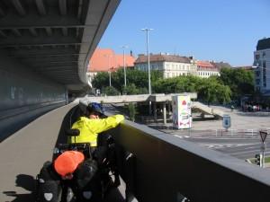 Bridge into Bratislava, Slovakia