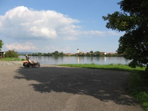 Typical view from a Danube dike
