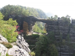 Largest natural stone arch in Europe