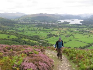 Randy and the view on the way up Skiddaw