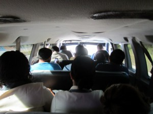 Interior of collectivo (collective taxi)