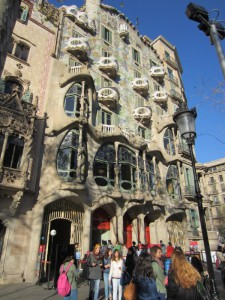 A building designed by Gaudí
