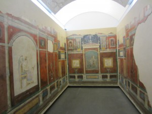 Room of wall frescoes