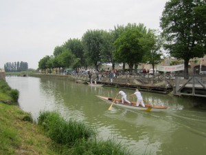 Boat race in Montselice