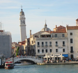 Leaning tower in Venice
