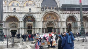 In front of the Basilica San Marco