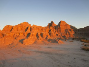 Badlands National Park at sunrise