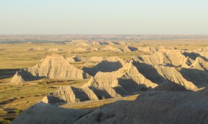 Badlands National Park in morning light