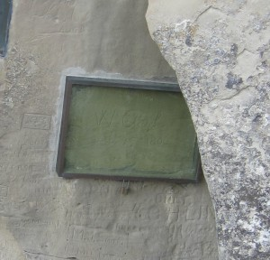 William Clark's signature in sandstone, Pompey's Pillar National Monumnet