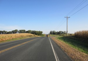 Riding on county roads of Minnesota