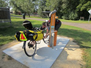 Bike repair station on Gateway Trail