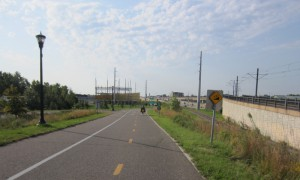 Bike trail through St. Paul, Minnesota