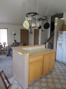 base cabinet installed