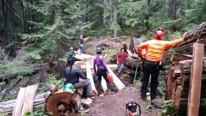 WTA - Working on bridges with the Backcountry Horsemen