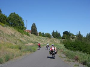 Bike Travel Weekend - Riding down the Centennial Trail