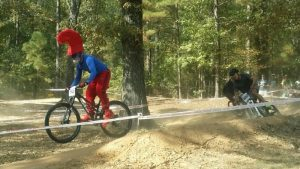 smurf mountain bike racing