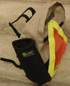 home-made seat-back bag for recumbent seat