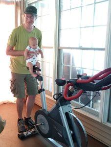 baby on bike