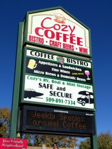 Cozy Coffee sign