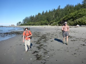 Hiking on the Washington coast