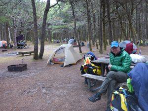Hiker-biker area in Oregon state park