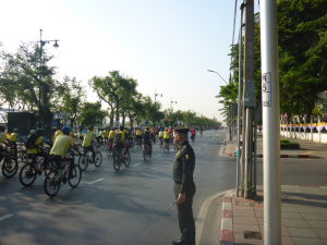 Cyclists in Bangkok